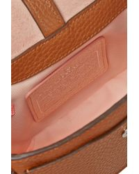 COACH - Brown Dakotah Studded Textured-Leather Shoulder Bag - Lyst