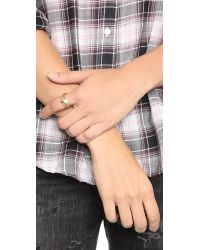 kate spade new york - Metallic Pearly Delight Stackable Rings - Cream Multi - Lyst