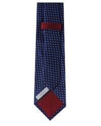 Eton of Sweden - Blue Scalloped Semi Circle Silk Tie for Men - Lyst