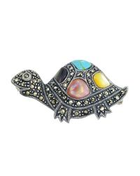 Lord & Taylor | Metallic Multi-stone And Sterling Silver Turtle Brooch | Lyst