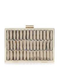 Dune Metallic Bowden Gem Embellished Clutch Bag