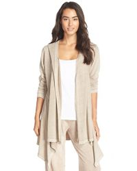 UGG | Natural 'ginnifer' Hooded Cardigan | Lyst