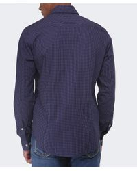 Armani Jeans | Blue Shirt In Cotton Poplin for Men | Lyst