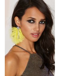 Nasty Gal | Yellow Birds Of Prey Rhinestone Earrings | Lyst