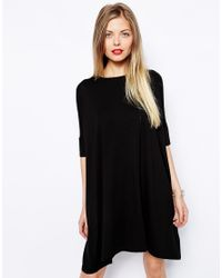 ASOS | Black The T-shirt Dress | Lyst