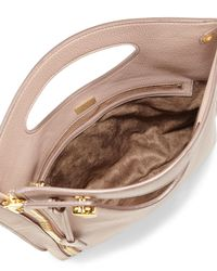 Tom Ford Pink Alix Fold-Over Leather Cross-Body Bag