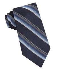 Calvin Klein | Blue Bar Striped Silk Tie for Men | Lyst