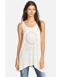 Project Social T - Natural 'live Love' Graphic Tank - Lyst