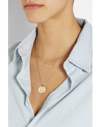 Scosha | Metallic Crescent Moon 14karat Gold Diamond Necklace | Lyst