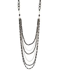 Nakamol | Black Long Layered Crystal Necklace | Lyst