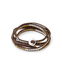 Forever 21 | Metallic Beaded Wrap Bracelet | Lyst