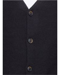 Scotch & Soda - Black Lambswool Blend Cardigan for Men - Lyst