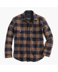 J.Crew | Blue Buffalo Check Cpo Shirt-jacket for Men | Lyst