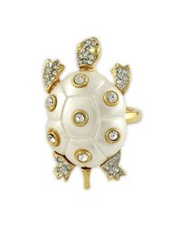 Kenneth Jay Lane - White Pearl Turtle Ring - Lyst