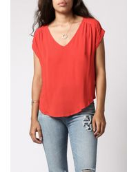 Azalea | Red Finella S/s Blouse | Lyst