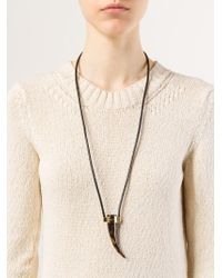 Michael Kors - Black Horn Pendant Necklace - Lyst