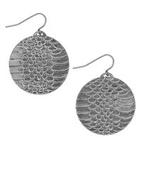 Sam Edelman | Metallic Snake Disc Drop Earrings | Lyst