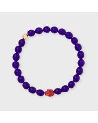 Paul Smith - Purple Men's Violet Beaded Skull Bracelet for Men - Lyst
