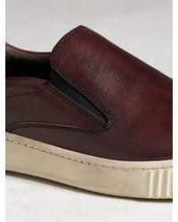 John Varvatos - Red Bedford Slip-on Sneaker for Men - Lyst