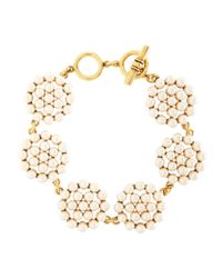 Brooks Brothers | Yellow Tonal Pearl Disc Bracelet | Lyst