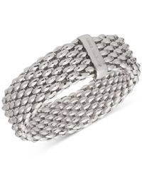 Anne Klein | Metallic Textured Wide Stretch Bracelet | Lyst