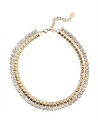 R.j. Graziano | Metallic Soft Palette Collar Necklace | Lyst