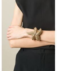 Roberto Cavalli - Metallic Embellished Sea Star Bracelet - Lyst
