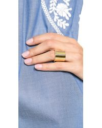 Elizabeth and James | Metallic Bauhaus Large Finger Ring | Lyst