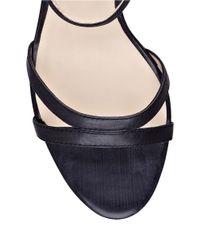 Nine West | Black Anadulo Wedge Sandals | Lyst