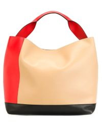 Marni | Red 'pod' Colour Block Tote | Lyst