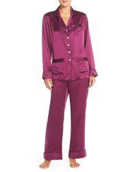 Lyst - Olivia Von Halle  coco  Silk Pajamas in Purple ae362e716