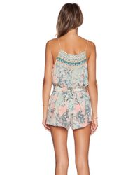 Camilla | Multicolor Shoestring Strap Playsuit | Lyst