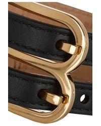 Balenciaga - Black B Leather Bracelet - Lyst