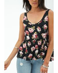 Forever 21 - Multicolor Flared Scoop Back Top - Lyst