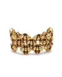 J.Crew | Metallic Folded Metal Bracelet | Lyst