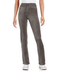 Calvin Klein | Gray Velour Drawstring Pants | Lyst