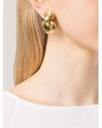 Vaubel - Metallic Interlocking Hoop Clip-on Earrings - Lyst