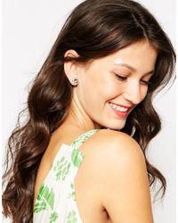 Ted Baker   Green Crystal Stud Earring   Lyst