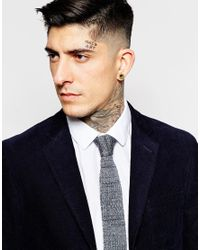Minimum | Gray Knitted Tie for Men | Lyst