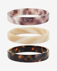 Pono | Brown Tortoise Resin Bangles | Lyst