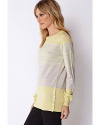 Forever 21 | Gray Contemporary Blurred Lines Knit Sweater | Lyst