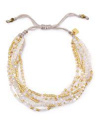 Chan Luu - White Multi Strand Bracelet - Lyst
