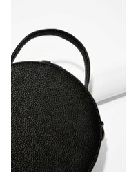 Nasty Gal - Black Circle Back Leather Crossbody Bag - Lyst