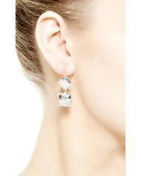 Renee Lewis - Metallic 18K White Gold And Diamond Shake Earrings - Lyst