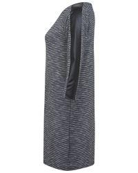 Miss Selfridge - Gray Stripe Texture Tunic Dress - Lyst