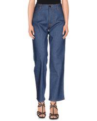 Prada | Blue Denim Trousers | Lyst