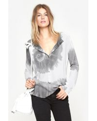Raquel Allegra | Gray Long Sleeve Henley | Lyst