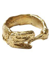 Alternative Apparel - Metallic Verameat Dino Eating Fried Chicken Ring - Lyst