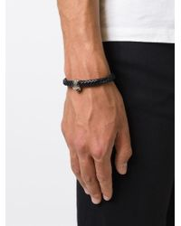 Alexander McQueen | Metallic Woven Skull Bracelet for Men | Lyst
