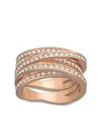 Swarovski | Pink Spiral Crystal And Rose Gold-Tone Ring Size 8 | Lyst